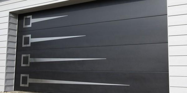 Porte de garage décor inox
